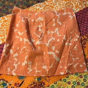 J. Crew Orange Lined Skirt Sz 2